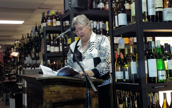 Mary Jane Nordgren reads from her published book at Beer and Bards Hillsboro.