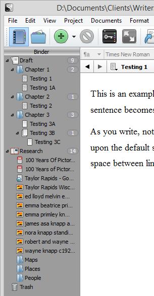Scrivener - Add Folders to Research - Lorelle VanFossen