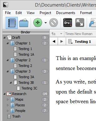 Scrivener - Binder Organization - Adding Folders to Research Binder - Lorelle