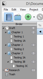 Scrivener - Draft - Add subtext files - Lorelle VanFossen