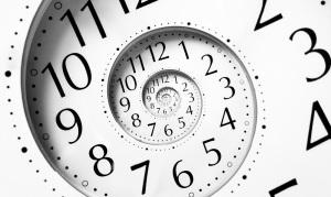 Spiral of clock.