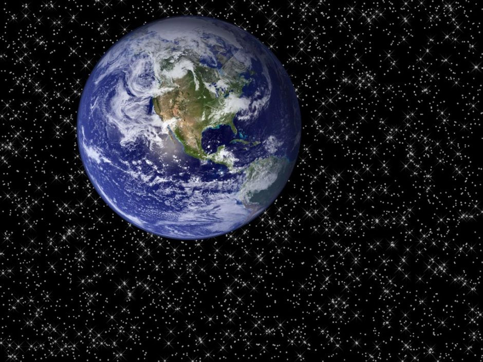 Earth in space - courtesy NASA.