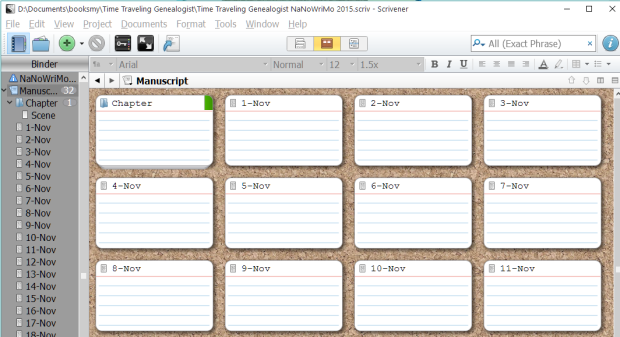 nanowrimo novel template for scrivener writers in the grove