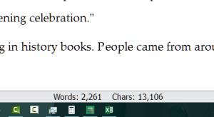 Scrivener Word Count Per Document.