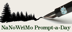 Writers in the Grove NaNoWriMo Prompt a Day badge