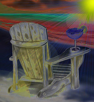 Beach Chair and Drink.