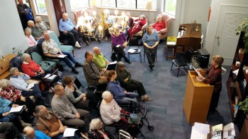 Wintersong reading presentation featuring Paula Adams of Writers in the Grove.