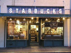 Starbucks Coffee Store downtown Seattle