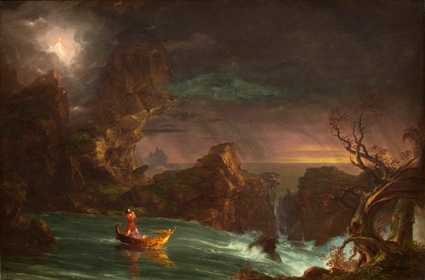 Painting - Thomas Cole, The Voyage of Life, 1842, National Gallery of Art.